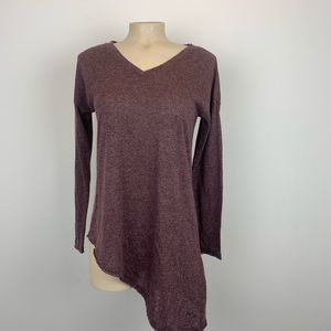 Purple Top Slanted at Bottom Size M